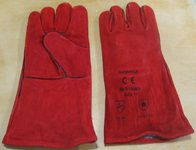 Chemical Red PVC Gloves