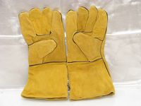 Contractor Uk Yellow Leather Gloves